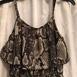 Maxi dress with ruffle top
